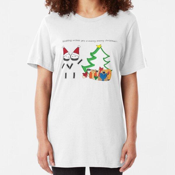 Power Love Christmas Slim Fit T-Shirt