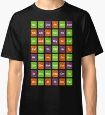 Cannabis Strain Tags Sativa Indica Hybrid Weed Classic T-Shirt