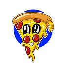 Fast food FRENZY! Polly Pepperoni Pizza Slice by Shelly Still