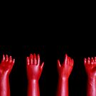 Spooky Red Doll Hands, Halloween Zombie Horror by Shelly Still