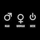 Man Woman Geek Funny Symbols by Chocodole