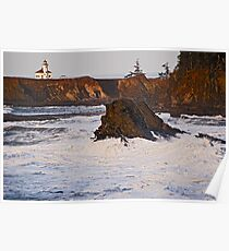 Cape Arago Light, Coos County Oregon Poster