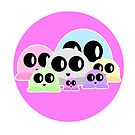 Cheebs! Cute Little Characters Pretty In Pink by Shelly Still