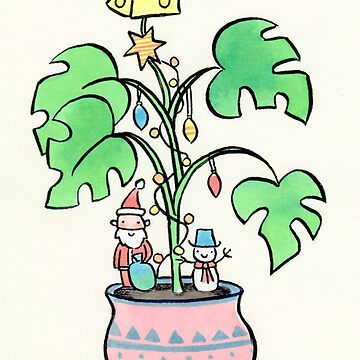 Cheese Plant Christmas Tree by zoel
