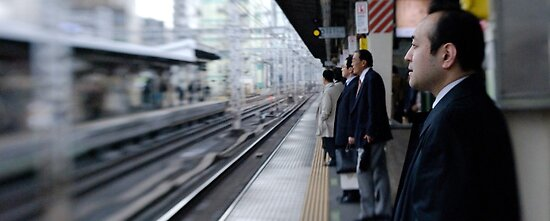 Waiting for the bullet train by CharlyBoy