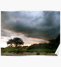 Evening Storm over Accabonac Creek Poster