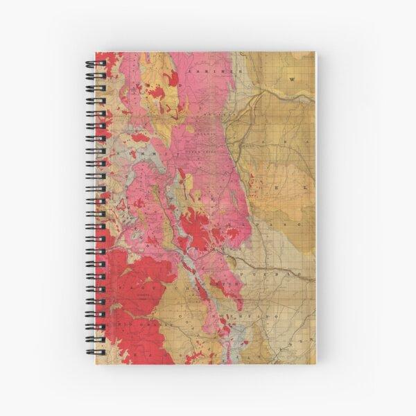 Vintage Geological Map of Colorado (1879) Spiral Notebook