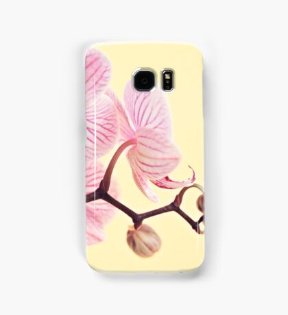 Pink phalaenopsis orchid blossoms Samsung Galaxy Case/Skin