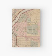 Vintage Map of Rockford IL (1886) Hardcover Journal