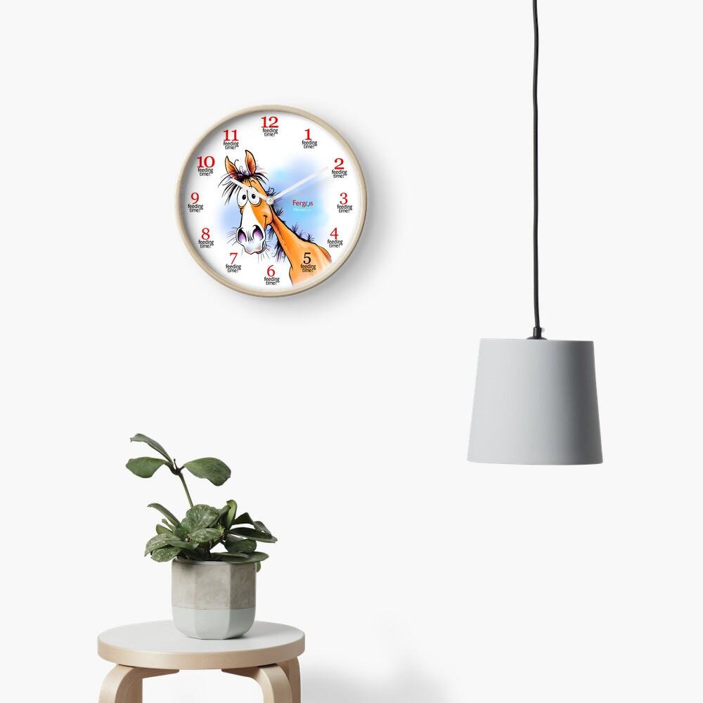 "Fergus the Horse: ""Feeding Time"" Clock Clock"