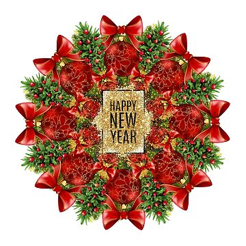 Happy New Year Mandala by burenkaUA