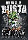 Ball Busta Dinosaur Baseball  by MudgeStudios