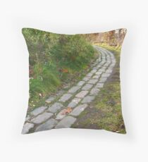 Don't fall off the rails Throw Pillow