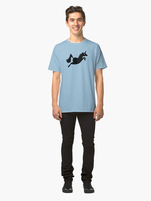 Alternate view of Angry Animals: Unicorn Classic T-Shirt
