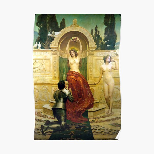 Lilith with a snake John Collier exhibition poster nude woman museum print