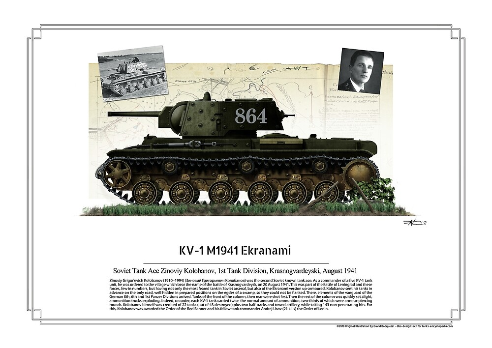 KV-1 Model 1940 Ekranami - Soviet tank ace Zinoviy Kolobanov by TheCollectioner