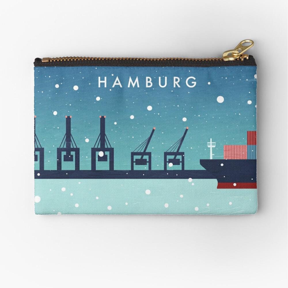Hamburg im Winter Täschchen