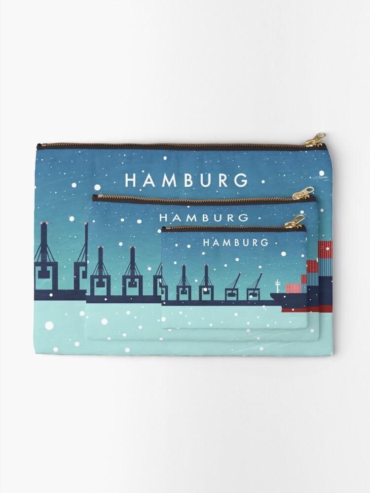 Alternative Ansicht von Hamburg im Winter Täschchen