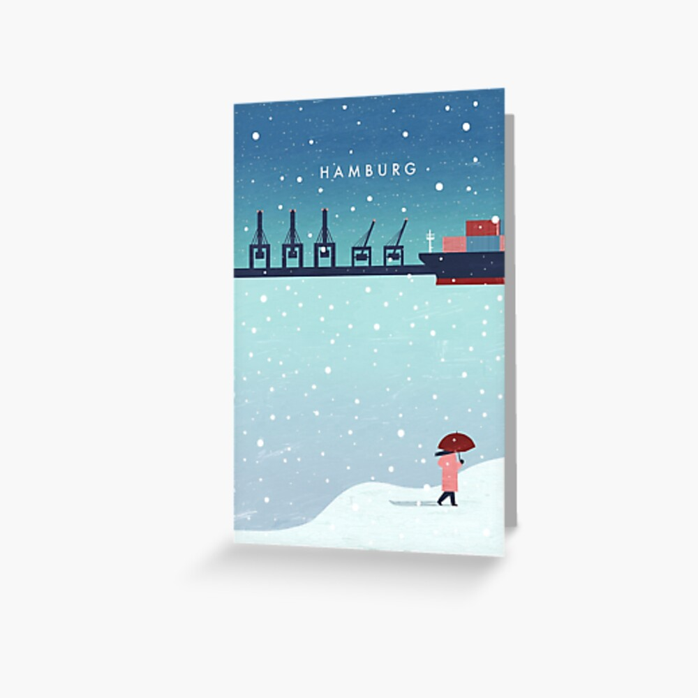 Hamburg im Winter Grußkarte