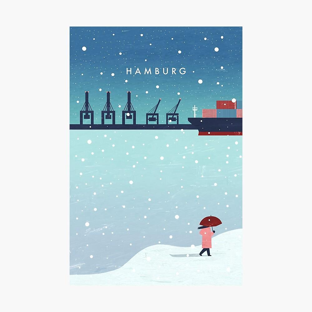 Hamburg im Winter Fotodruck