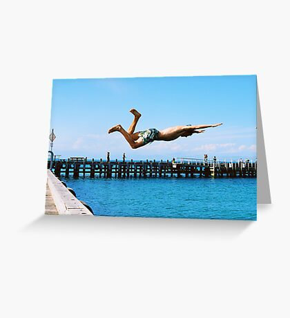 Portsea Pier Dive Greeting Card