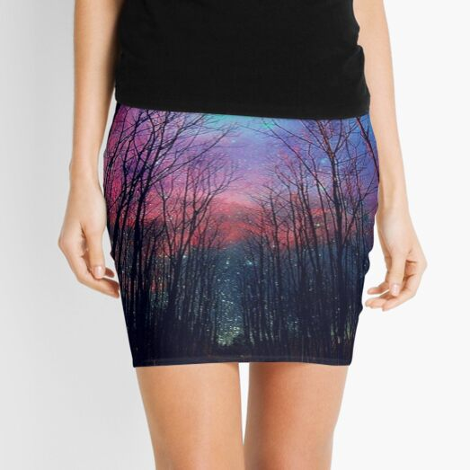 Spooky Beautiful Forest Mini Skirt