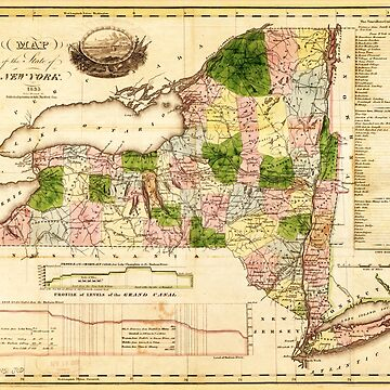 Map of the State of New York (1833) by allhistory