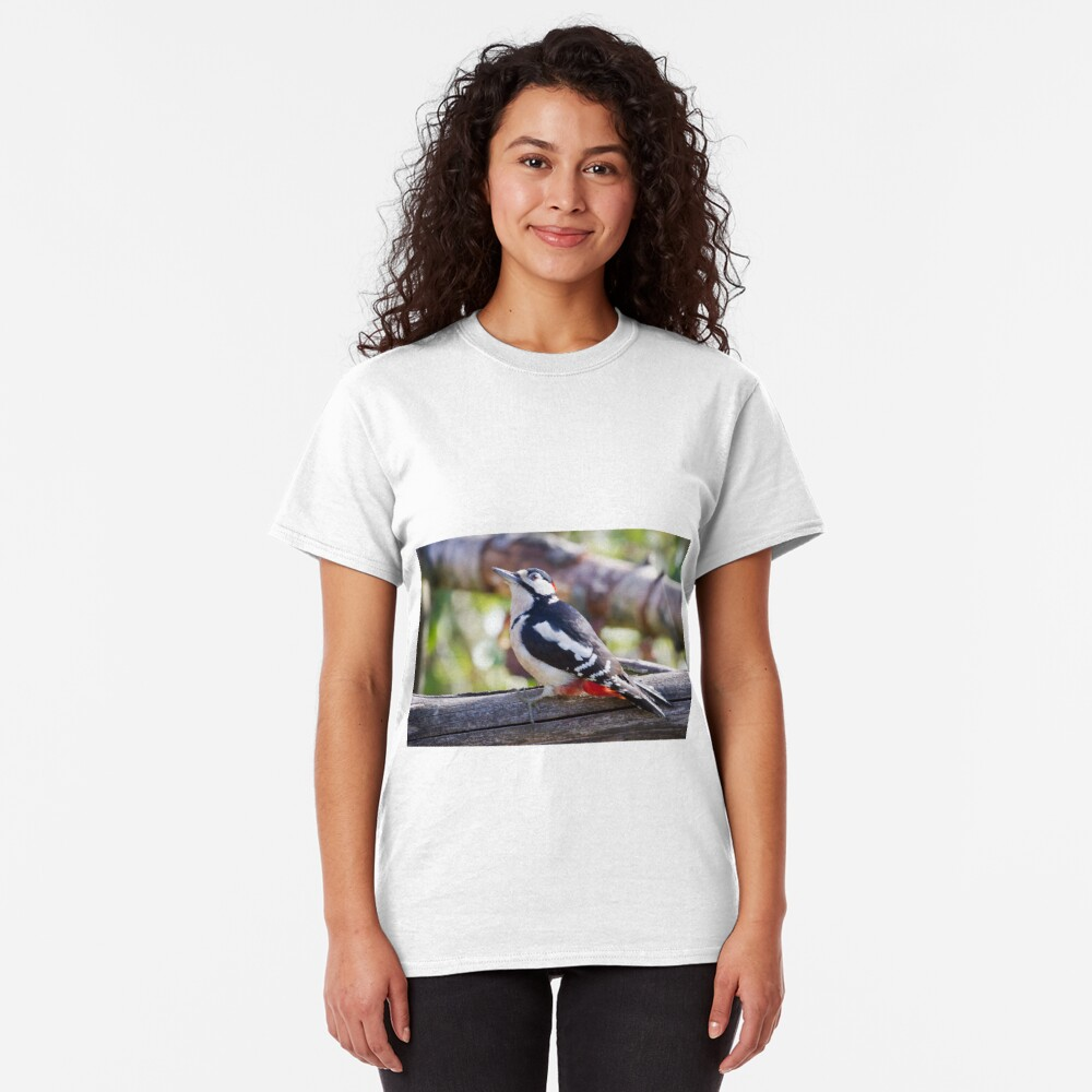 Great Spotted Woodpecker (Dendrocopos major) Classic T-Shirt