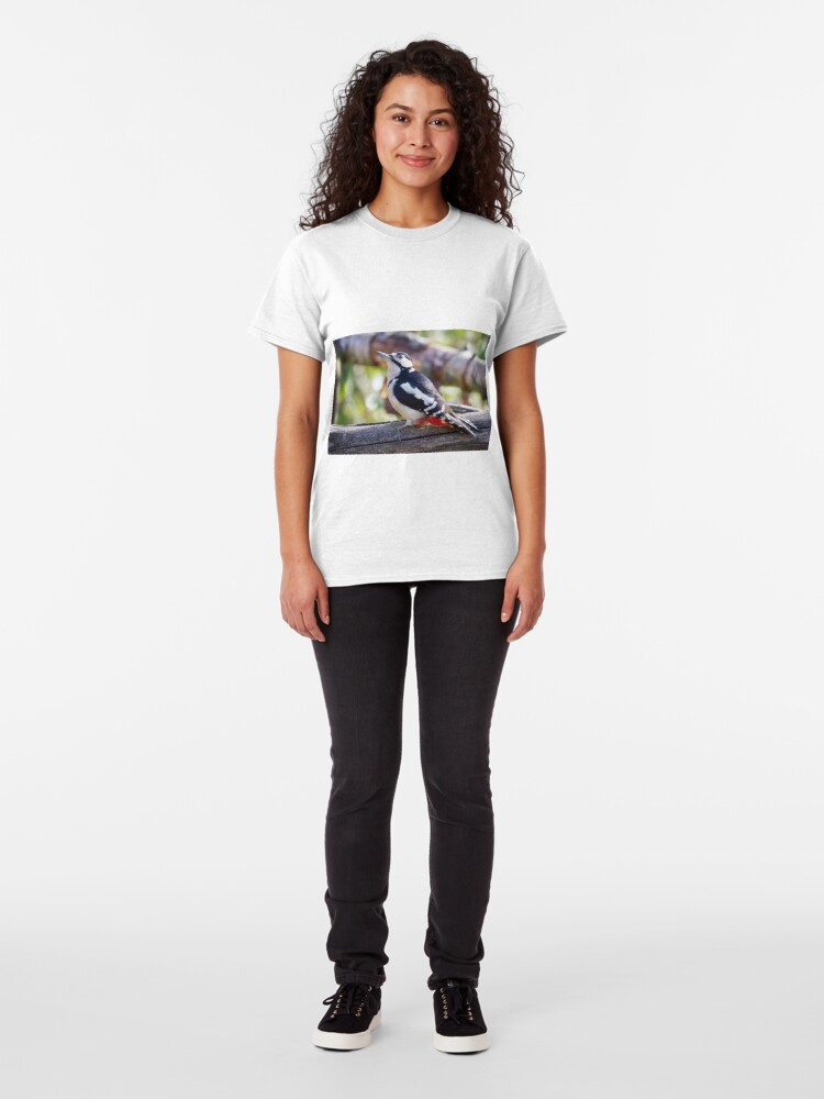 Alternate view of Great Spotted Woodpecker (Dendrocopos major) Classic T-Shirt