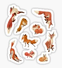 Red foxes Sticker