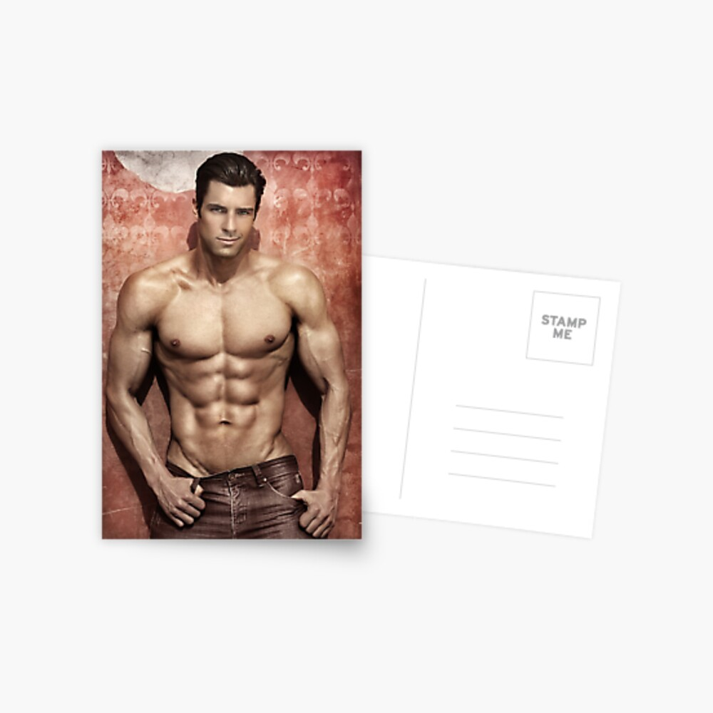 Fitness model Chris Postcard