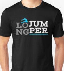 Weitspringer Weitsprung Dreisprung Geschenk Idee Unisex T-Shirt