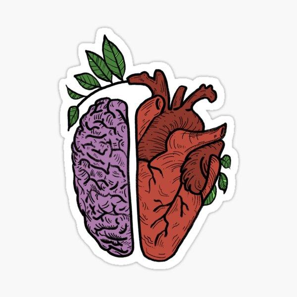 Cabeza y corazon Pegatina