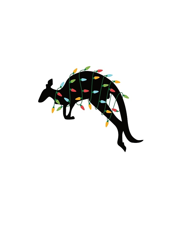 Christmas Lights Kangaroo T-Shirt Zoo Animal Lover Xmas Gift by davdmark