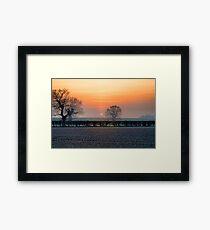 Last Summer Sun Framed Print