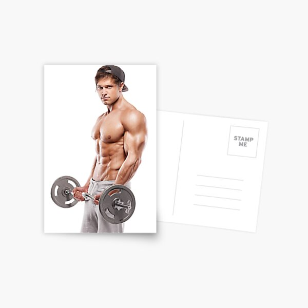 Dave working out Postcard