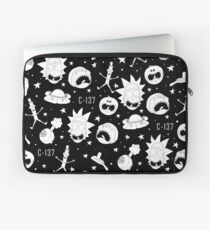 Black and white Rick and Morty pattern Laptop Sleeve