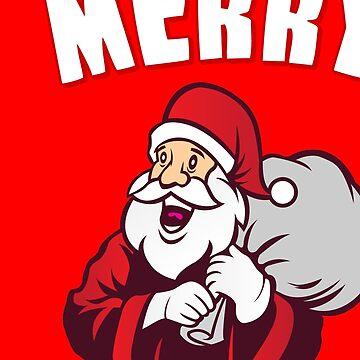 Merry Kissmyass Funny Christmas by flippinsg