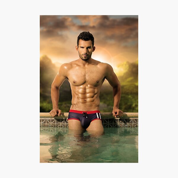 Hunky Kevin Photographic Print