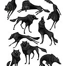 Black wolves by Sarah-Lisa Hleb