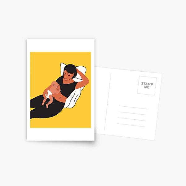Laid-back Breastfeeding  Postcard