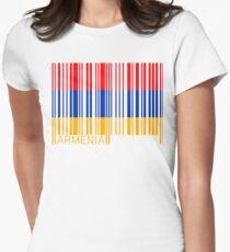 Barcode Armenia Bar Code Women's Fitted T-Shirt
