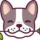 Süße französische Bulldogge mit Rose von irmirx