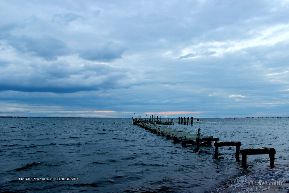Remains Of A Pier | Fire Island, New York  by © Sophie W. Smith