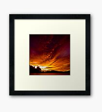 Fiery Skies Framed Print