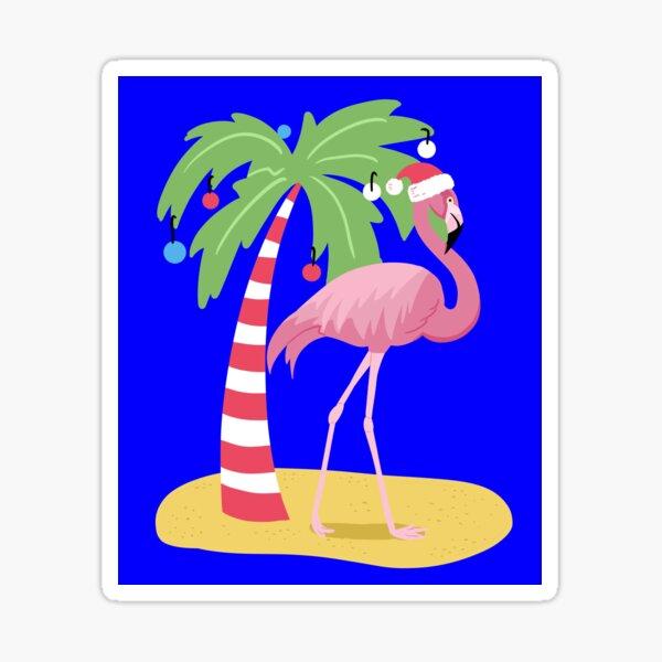 Vintage Flamingo | Tropical Christmas  Sticker