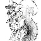 Victorian Squirrel Witch by pawlove