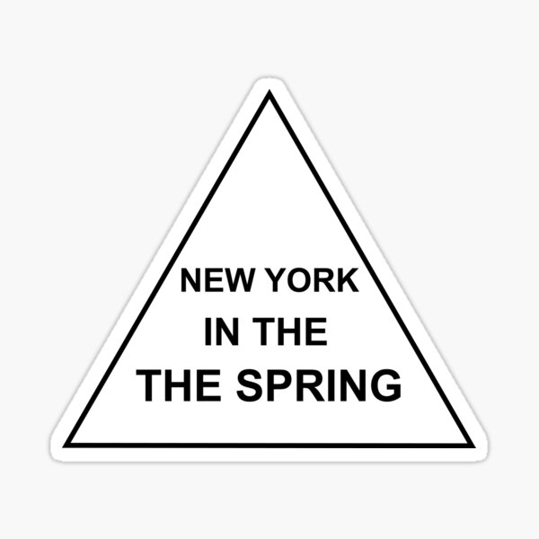 New York In The The Spring Sticker