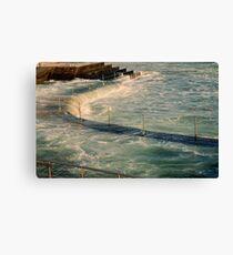 sea,rail,curve Canvas Print