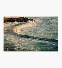 sea,rail,curve Photographic Print